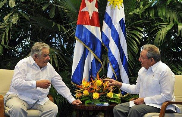 Raúl Castro y Pepe Mujica