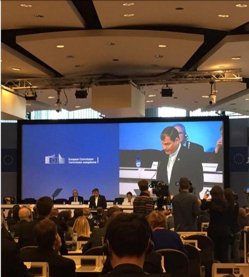 Rafael Correa en la Cumbre UE-CELAC