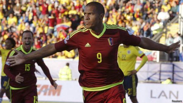 Rondón le dio el gol triunfador a la vinotinto frente a Colombia