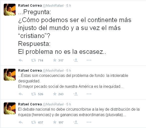 Tweets Correa