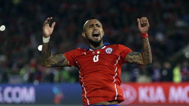 Arturo Vidal celebra el triunfo