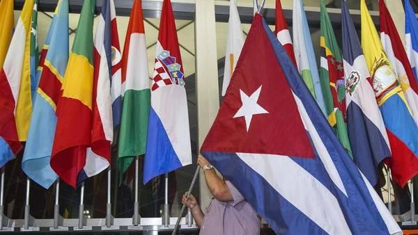 Bandera de Cuba en el Departamento de Estado