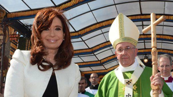 Cristina Fernandez asistió a la misa del Papa Francisco en Paraguay