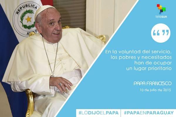 Frases Papa Francisco en Paraguay 2