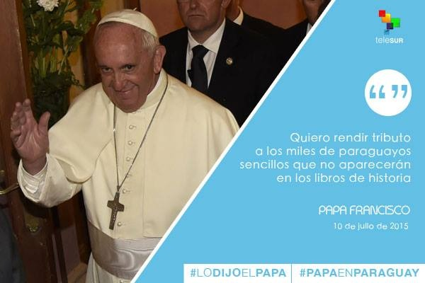 Frases Papa Francisco en Paraguay 3