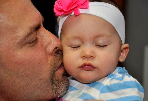 Gema y su papá Gerardo