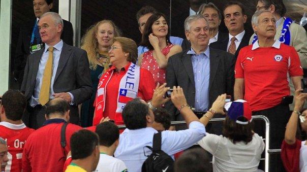 La presidenta Michelle Bachelet presenció la victoria chilena