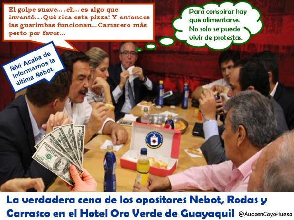 La verdadera cena de Nebot, Rodas y Carrasco