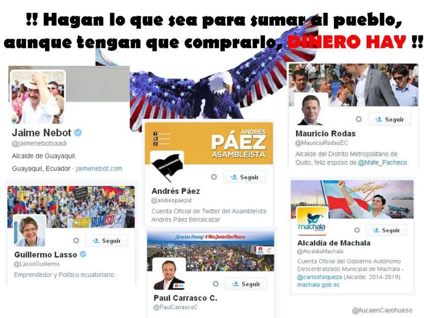 Llamado de EE.UU. a la oposición en Ecuador