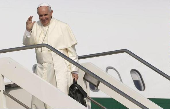 Papa Francisco camino a Ecuador