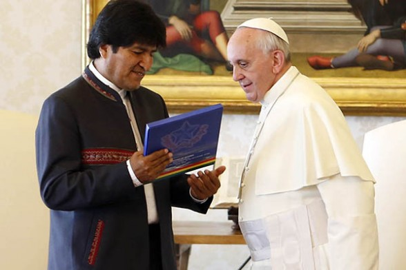 Papa Francisco y Evo Morales 2