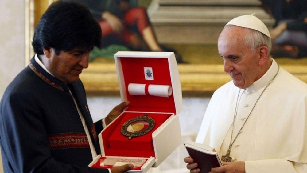 Papa Francisco y Evo Morales 4