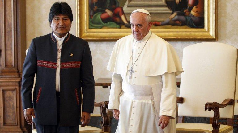 Papa Francisco y Evo Morales