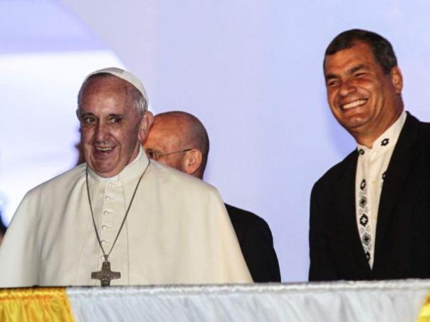 Papa Francisco y Rafael Correa