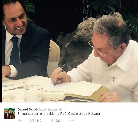 Raúl y Daniel Scioli 2