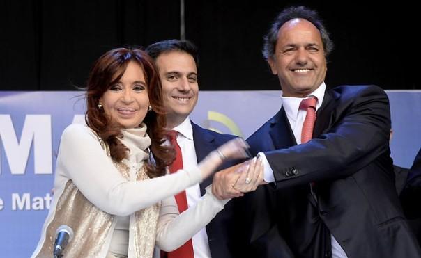Cristina Fernández y Daniel Scioli