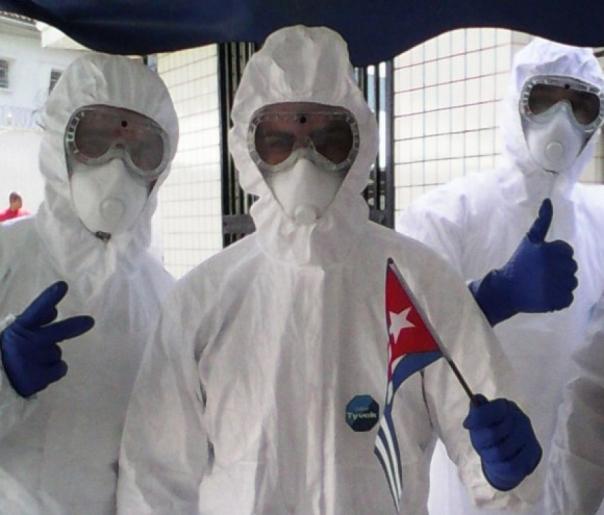 Cubanos en la lucha contra el ébola