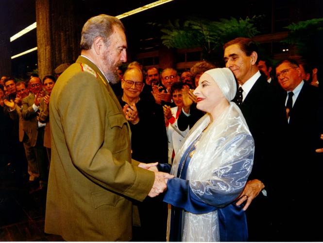 Fidel Castro y Alicia Alonso