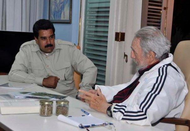 Fidel Castro y Nicolás Maduro