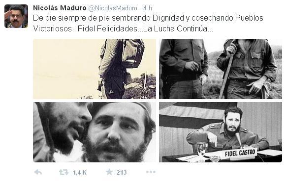 Tweet de Maduro a Fidel 2