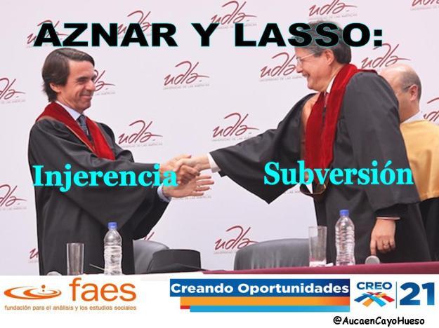 Aznar y Lasso, Injerencia y Subversión
