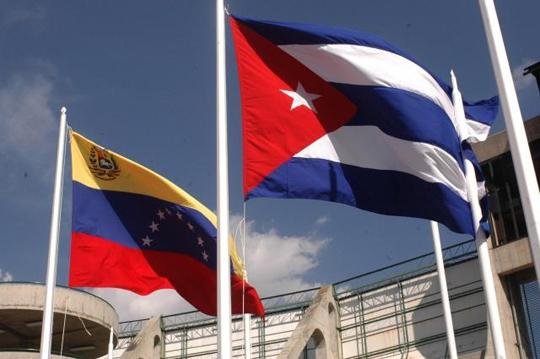 Banderas-Cuba-Venezuela