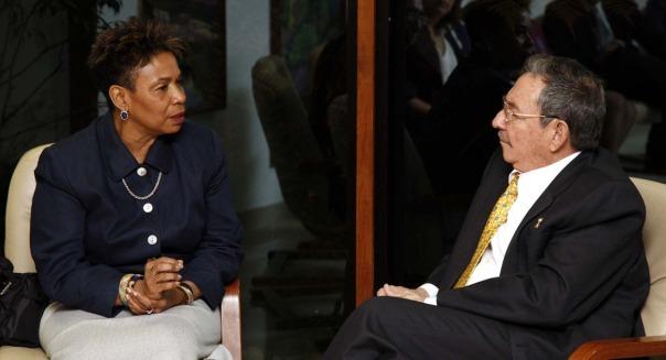 Raúl recibió a Barbara Lee en el 2009