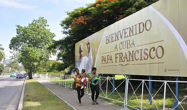 Bienvenido a Cuba Papa Francisco