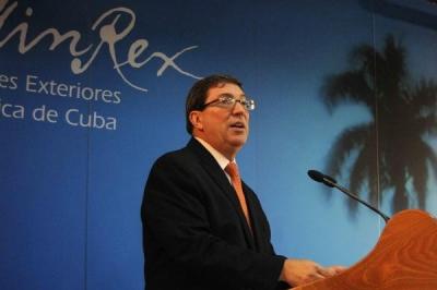 Canciller cubano Bruno Rodríguez presenta informe del Bloqueo