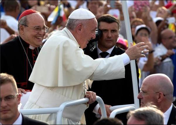 Cardenal Jaime Ortega y el Papa Francisco