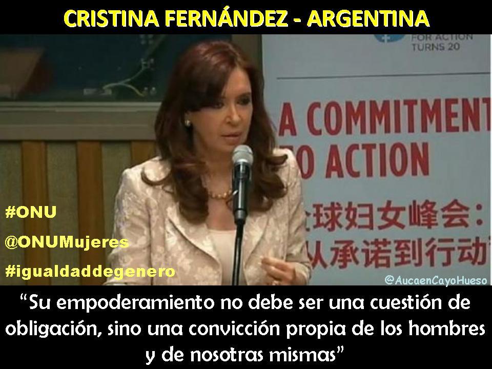 Cristina Fernández en Conferencia sobre igualdad de género