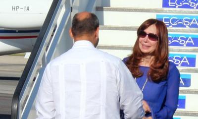Cristina Fernández en Cuba