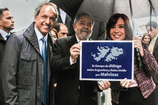 Cristina, Scioli y Lula 2