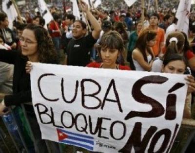 Cuba Sí, Bloqueo No