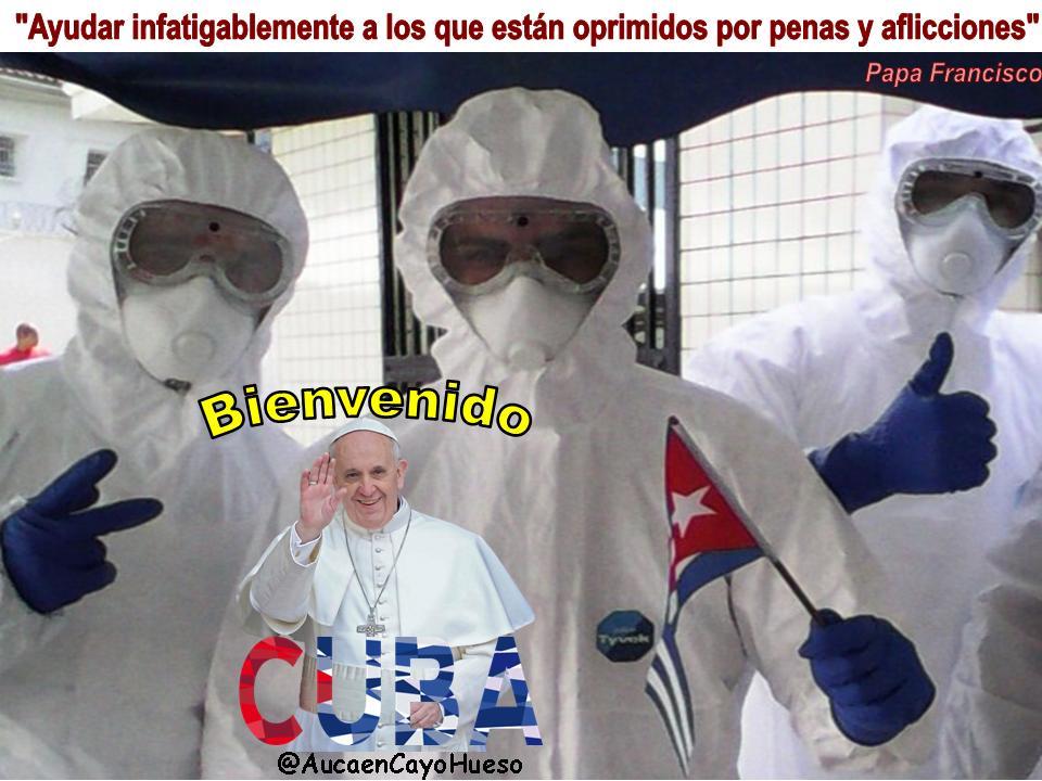 Cuba solidaria recibe al Papa Francisco 1