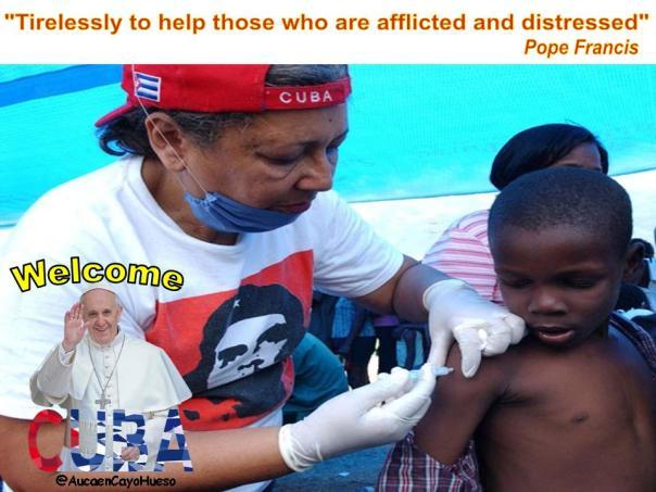 Cuba solidaria recibe al Papa Francisco 2