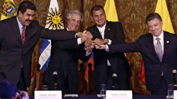 Diálogo Maduro y Santos