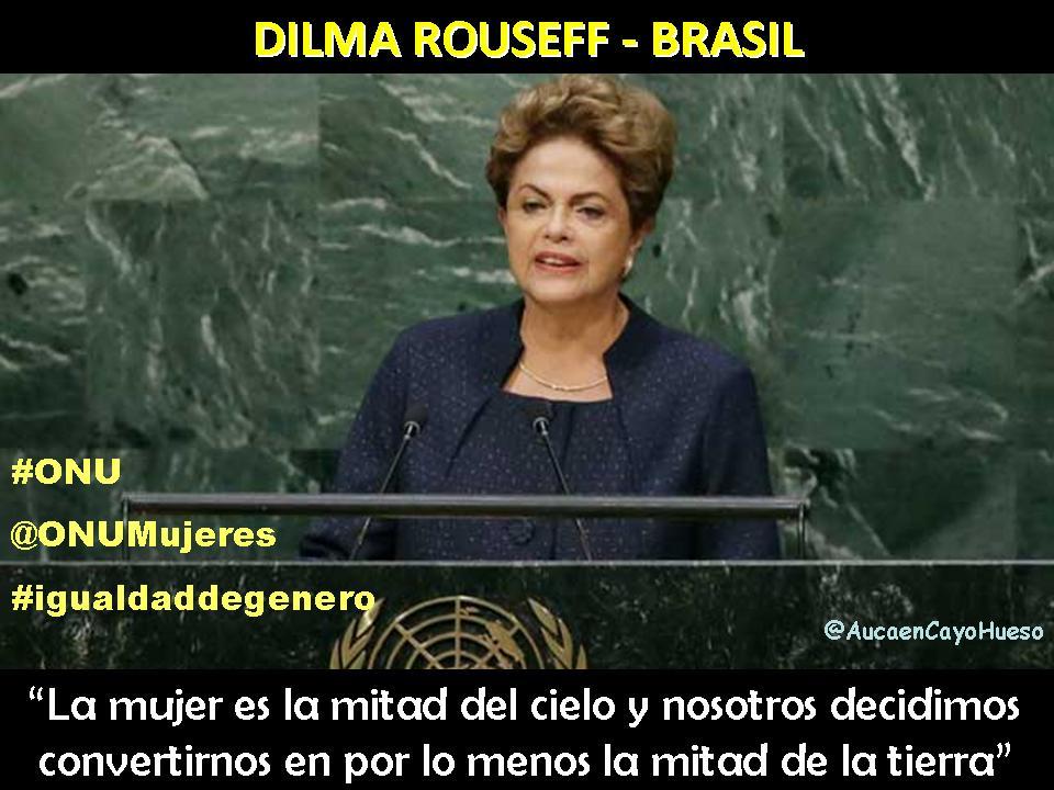 Dilma Rouseff en Conferencia sobre igualdad de género