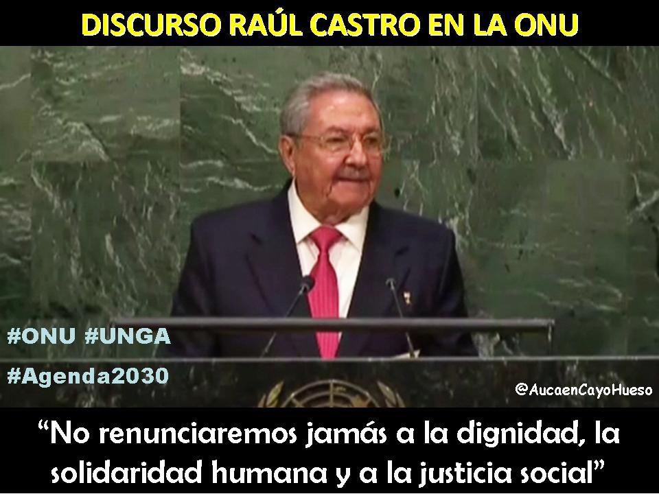 Discurso Raúl Castro en la ONU