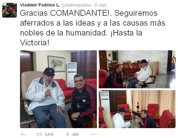 Fidel Castro y Vladimir Padrino López