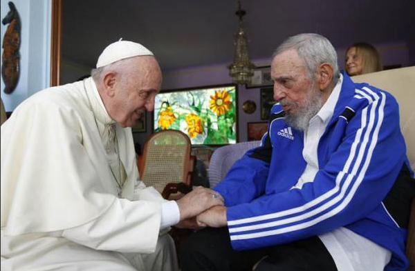 Fidel y el Papa Francisco 1