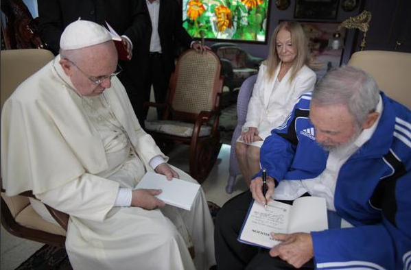 Fidel y el Papa Francisco 2