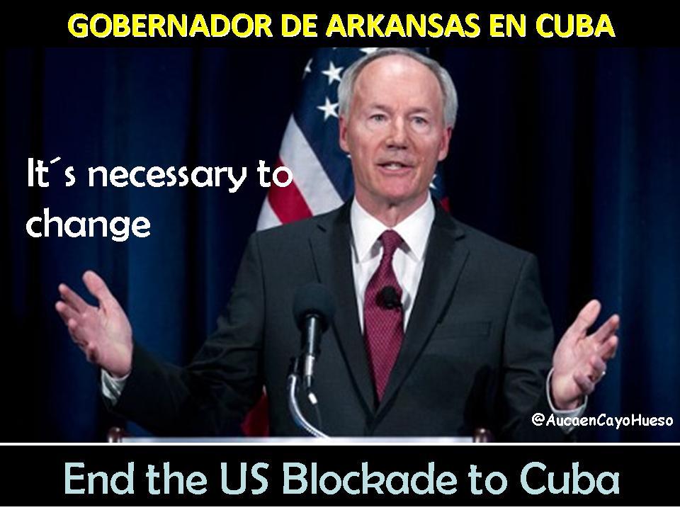 Gobernador de Arkansas en Cuba