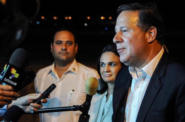 Juan Carlos Varela llegó a La Habana