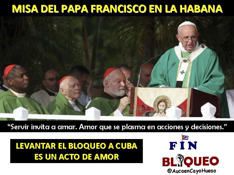 Mensaje del Papa Francisco y el bloqueo a Cuba 1
