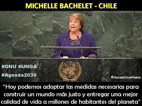 Michelle Bachelet en la ONU