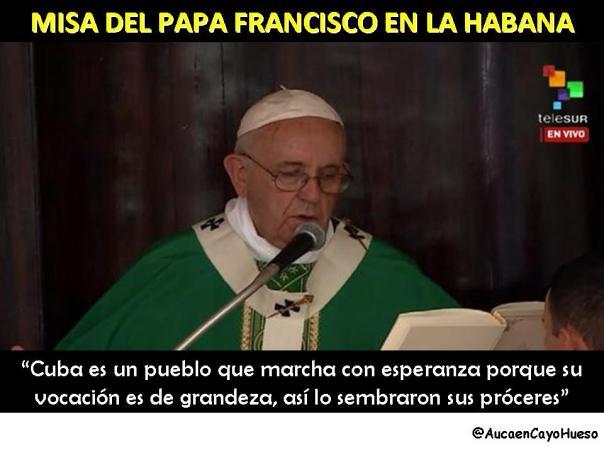 Misa Papa Francisco en La Habana