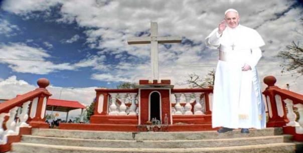 Papa Francisco en la Loma de la Cruz