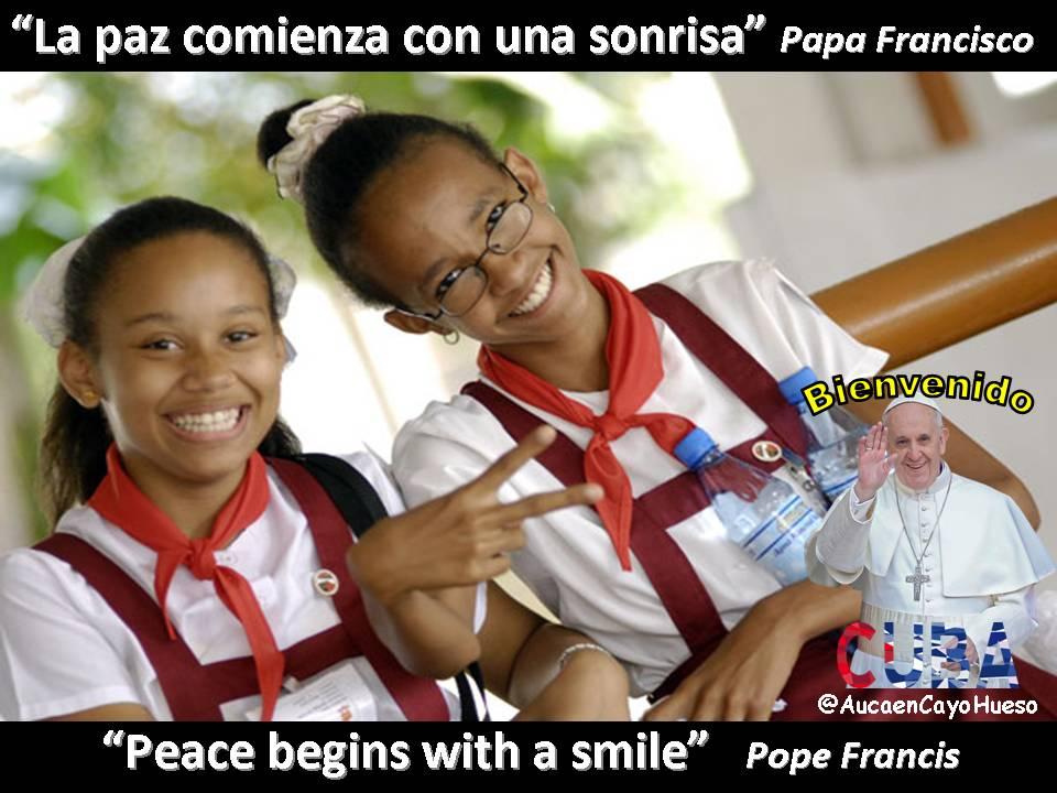 Papa Francisco La Paz comienza con una sonrisa
