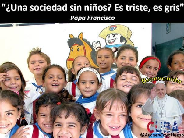 Papa Francisco y los niños cubanos
